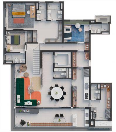 Planta Duplex   351 m²