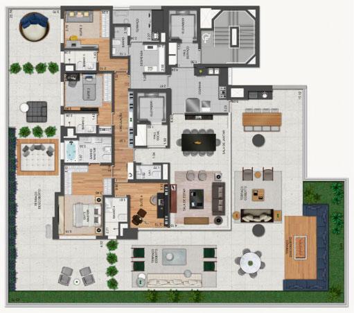 Planta Garden   439 m²