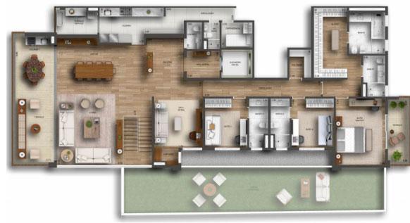 Planta Duplex   426 m²